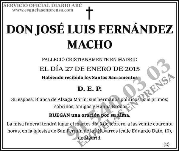 José Luis Fernández Macho
